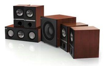 kef q100 5 1 system 5 1 heimkino lautsprecherset farbe kirsch hifi regler. Black Bedroom Furniture Sets. Home Design Ideas